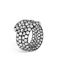 John Hardy | Metallic Sterling Silver Dot Double Coil Ring | Lyst