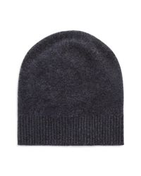 VINCE | Blue Boiled Cashmere Beanie for Men | Lyst