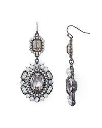Aqua | Metallic Genevieve Statement Drop Earrings | Lyst