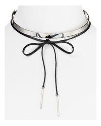 Aqua | Black Fae Collar Necklace | Lyst