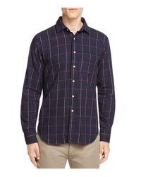 Haspel   Blue Constance Flannel Regular Fit Button-down Shirt for Men   Lyst