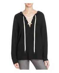 Project Social T Black Lace-up Hoodie