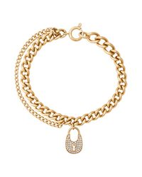 Michael Kors | Metallic Curb Chain Link Bracelet | Lyst