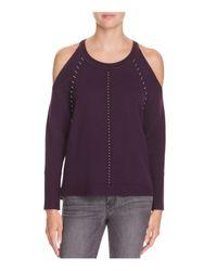 Ramy Brook - Purple Maya Cold Shoulder Sweater - Lyst
