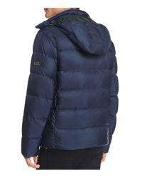 Michael Kors Blue Hooded Down Jacket for men