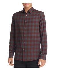 Michael Kors - Multicolor Enzo Flannel Check Slim Fit Button Down Shirt for Men - Lyst