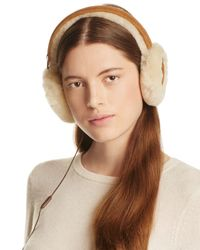 Ugg | Brown Classic Shearling Sheepskin Earmuffs With Wired Headphones | Lyst