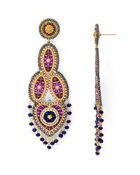 Miguel Ases   Multicolor Beaded Chandelier Drop Earrings   Lyst