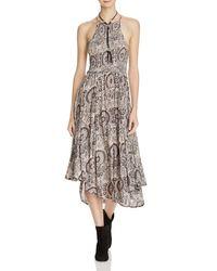 Free People | Brown Seasons In The Sun Printed Dress | Lyst