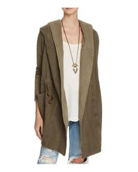 Free People - Green Brentwood Hooded Cardigan - Lyst