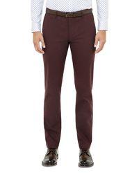 Ted Baker | Red Rustler Slim Fit Trousers for Men | Lyst