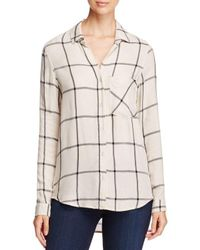 Side Stitch - Natural Windowpane Button Down Shirt - Lyst