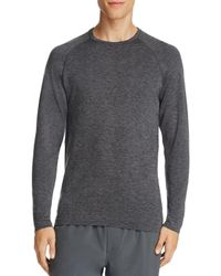 Rhone   Gray Forge Long Sleeve Athletic Tee for Men   Lyst