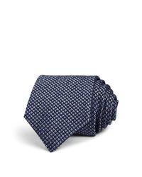 John Varvatos | Blue Woven Check Classic Tie for Men | Lyst