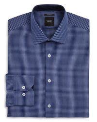 W.r.k.   Blue Check Regular Fit Dress Shirt for Men   Lyst