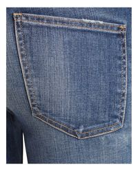 Current/Elliott Blue The Stiletto Jeans In Division Destroy