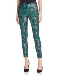 Alice + Olivia - Green Alice + Olivia Stacey Paisley Skinny Ankle Pants - Lyst