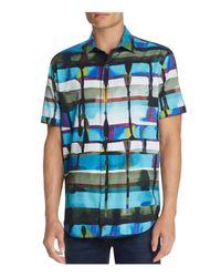 Robert Graham - Blue Gravity Abstract-print Short-sleeve Sport Shirt for Men - Lyst
