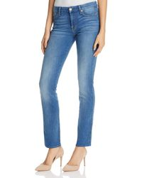 7 For All Mankind | Blue 7 For All Mankind 'b(air) - A Pocket' Flare Jeans | Lyst