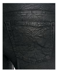 AG Jeans Legging Ankle Super Skinny Jeans In Coated Black