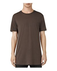 AllSaints | Brown Tower Tee for Men | Lyst