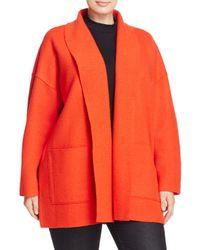 Eileen Fisher - Orange Shawl Collar Cocoon Jacket - Lyst
