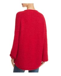Free People Red All Mine Sweater