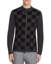 Armani | Gray Check Sweater for Men | Lyst