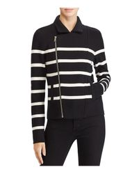 Ralph Lauren - Black Striped Cotton Full-zip Jacket - Lyst