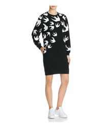 McQ Alexander McQueen   Black 'swallow' Sweatshirt Dress   Lyst