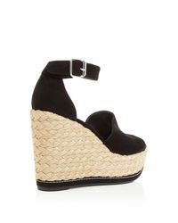 Stuart Weitzman - Black Sohojute Platform Wedge Sandals - Lyst