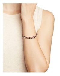 Tory Burch - Pink Swarovski Crystal Macramé Bracelet - Lyst