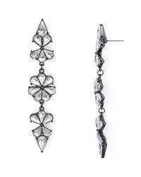 Aqua   Metallic Ingrid Floral Drop Earrings   Lyst