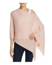 Minnie Rose | Pink Cashmere Ruana Poncho | Lyst