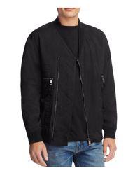 Helmut Lang Black Crossover Bomber Jacket for men
