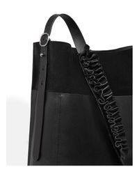 AllSaints Black Maya North/south Leather Tote