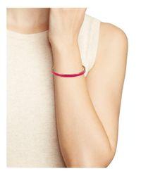 kate spade new york - Pink Enamel Bangle - Lyst