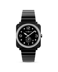 Bell & Ross Br S Black Ceramic Diamond Watch