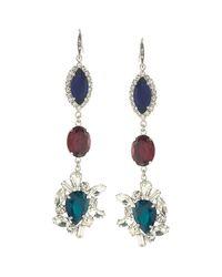 ABS By Allen Schwartz | Blue Linear Drop Earrings | Lyst