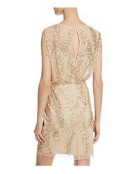 Aidan Mattox - Metallic Bead-embellished Blouson Dress - Lyst