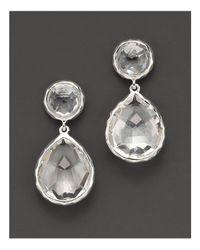 Ippolita - Metallic Sterling Silver Rock Candy Snowman Drop Earrings In Clear Quartz - Lyst
