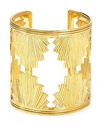 Yuwei | Metallic Shell Cuff | Lyst