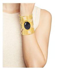 Yuwei - Multicolor Onyx Triangle Cutout Cuff - Lyst