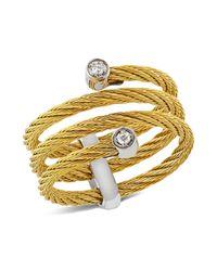 Alor   Metallic Diamond Yellow Cable Ring   Lyst