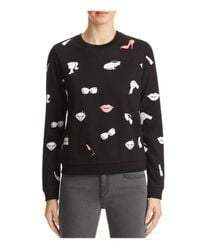 ELEVEN PARIS | Black Graphic Print Sweatshirt | Lyst