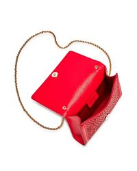 Ferragamo - Red Miss Vara Cutout Mini Leather Crossbody - Lyst