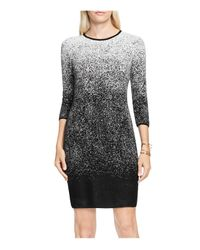 Vince Camuto | Black Ombré Jacquard Sweater Dress | Lyst