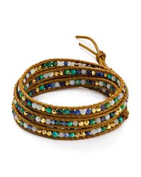 Chan Luu | Brown African Turquoise Mix Wrap Bracelet | Lyst