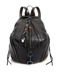 Rebecca Minkoff Black Julian Leather Backpack With Charge