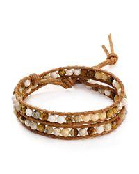 Chan Luu   Brown Picture Jasper Mix Wrap Bracelet   Lyst